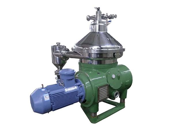 Working principle of disc centrifuge